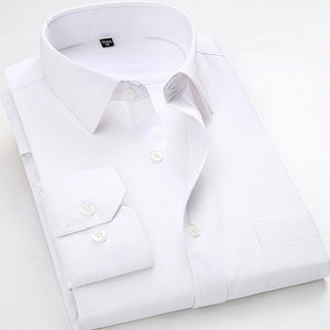 White Clouds Long Sleeve Twill Dress Shirt