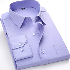 Light Purple Long Sleeve Twill Dress Shirt