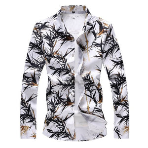 Golden Palms Slim Fit Long Sleeve Shirt