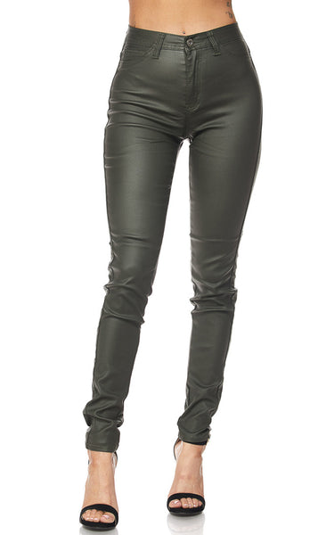 Faux Leather High Waisted Pants