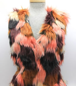 Nadine Faux Fur Long Vest