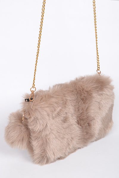 Lady Faux Fur Clutch