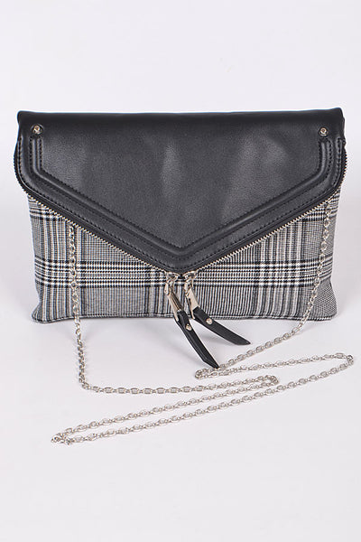 Daily Clutch With Zipper & Tassel Detail