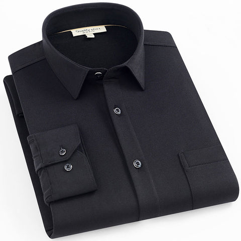 Black Long Sleeve Casual Shirt