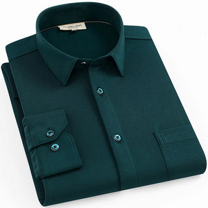 Emerald Green Long Sleeve Casual Shirt