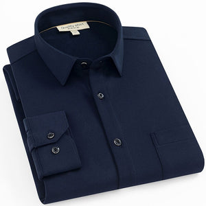 Morocco Blue Long Sleeve Casual Shirt