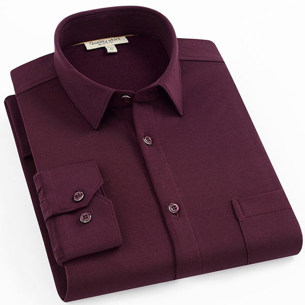 Purple Berry Long Sleeve Casual Shirt