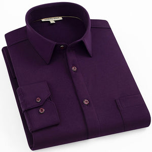 Deep Purple Long Sleeve Casual Shirt