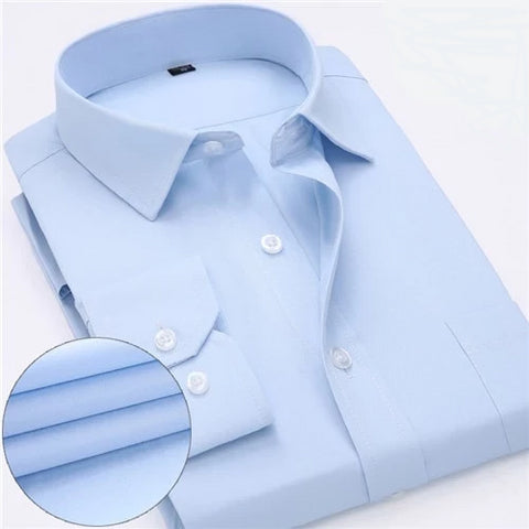 Light Blue Long Sleeve Twill Dress Shirt