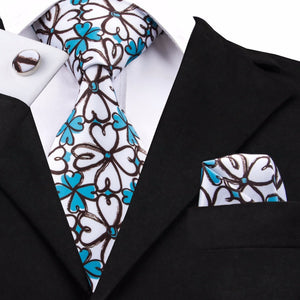 Blue Leprechaun Neck Tie Set