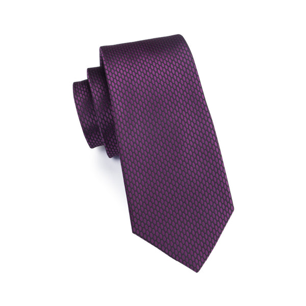 Plum Neck Tie Set
