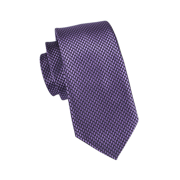 Purple Dots Neck Tie Set