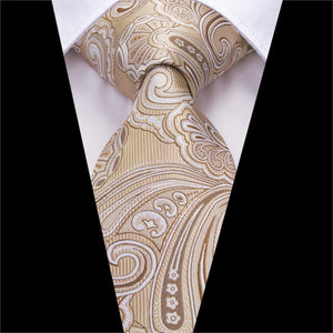 Smooth Cream  Neck Tie Set