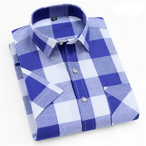Chess Board Short Sleeve Casual Shirt