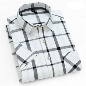 Black & White Short Sleeve Casual Shirt