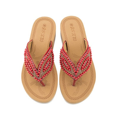 Beaded & Crystal Sandals