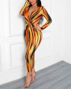 Hot Lava Abstract Party Dress