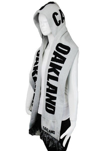 OAKLAND Double Layer Thick Knit Hooded Winter Scarf With Pockets