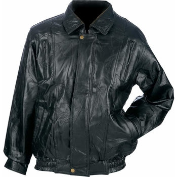 Italian Mosaic Design Genuine Top Grain Lambskin Leather Jacket