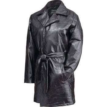 Ladies' Italian Stone Design Genuine Leather Jacket