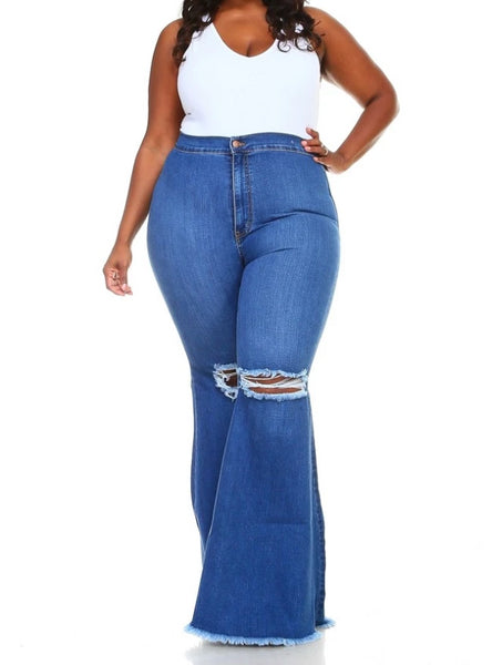 Medium Denim Plus Size Jeans
