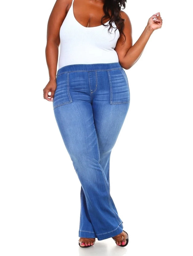 Bootcut Plus Size Denim Pants
