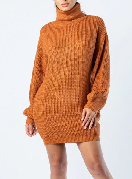 Rusted Sweater Dress