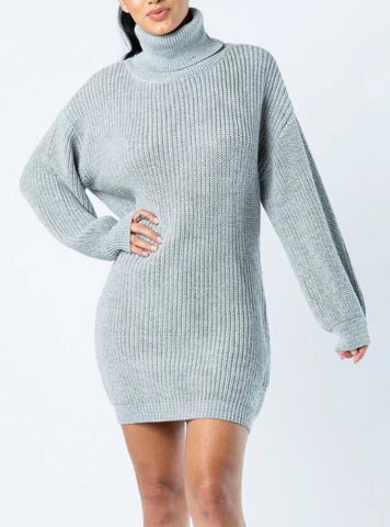 Silver Bullet Sweater Mini Dress