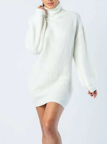 White Out Sweater Mini Dress
