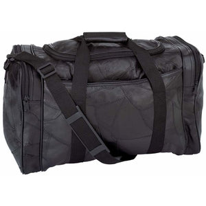 "Italian Stone Design Genuine Leather 17"" Duffel Bag"