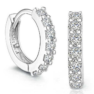 Rhinestone Hoop Diamond Stud Earrings