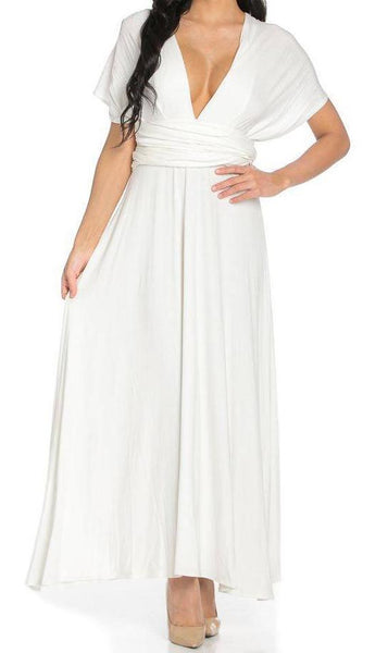 White-A Lil Of This and That Maxi Dress