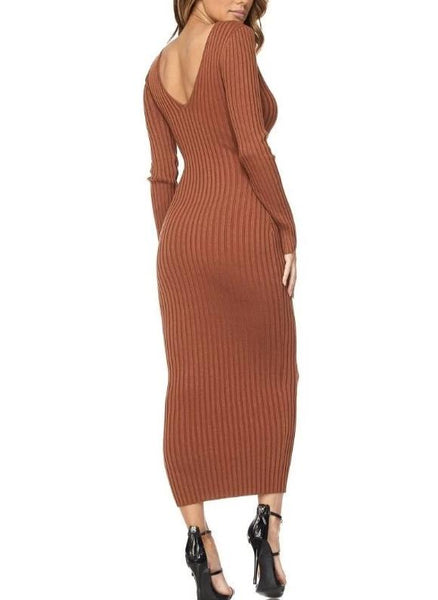 Aurburn Daze Maxi Sweater Dress