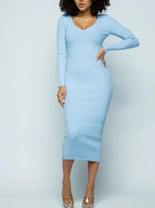 Blu Baby Maxi Sweater Dress
