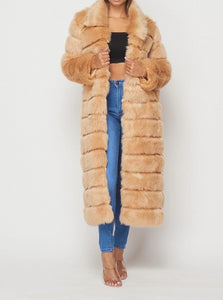 Foxxy Candy Brown Faux Fur Coat