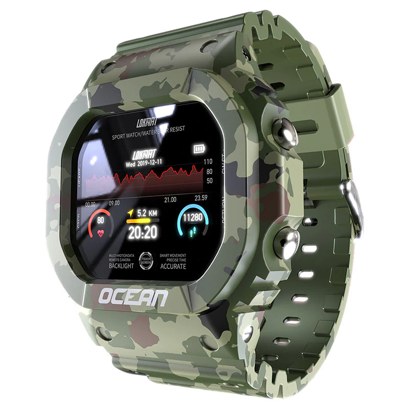 Ocean Military Smartwatch, watches > Smartwatch > Men - Dgitrends
