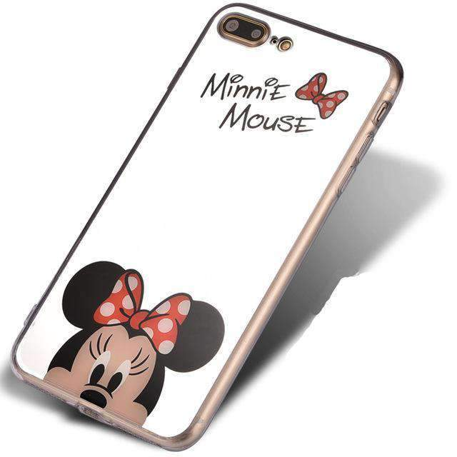 Mirrored iPhone Case With Cartoon Character, Mirrored iPhone Case With Character - Dgitrends