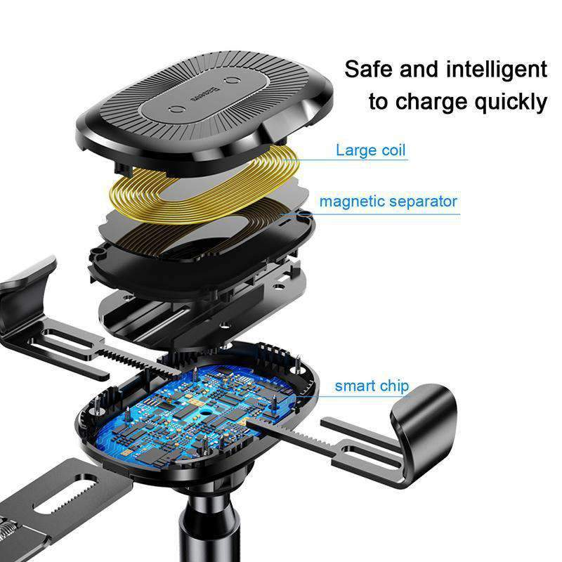 Wireless Fast-Charger With Telescoping Arm, Wireless Fast-Charger With Telescoping Arm - Dgitrends