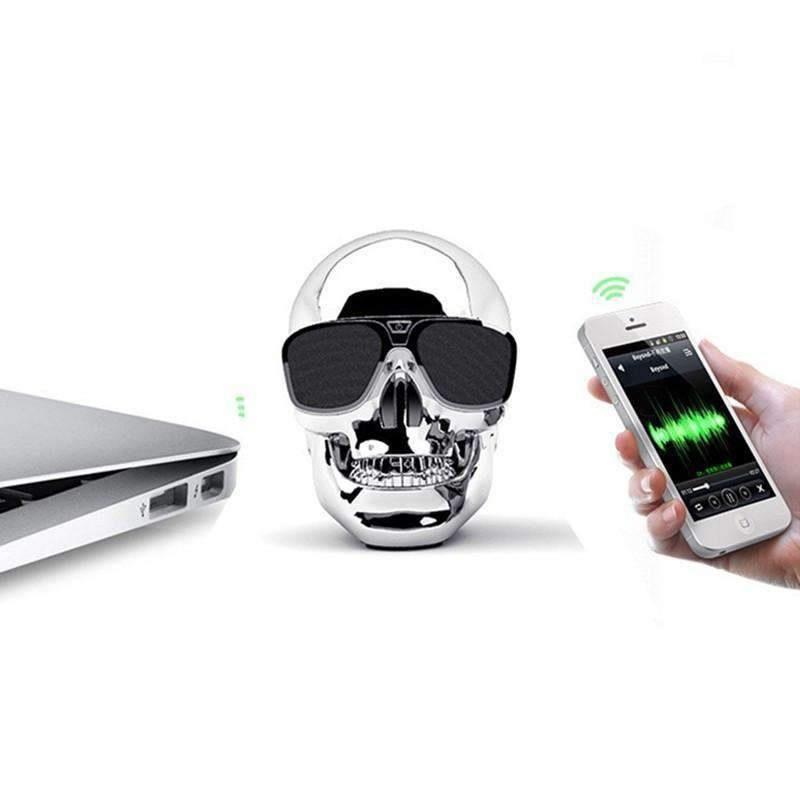 Rechargeable Bluetooth Skull Speaker, Bluetooth Speaker - Dgitrends Watches Gadgets & Accessories