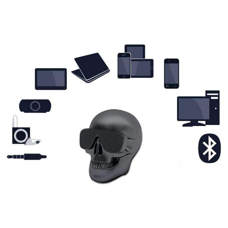 Rechargeable Bluetooth Skull Speaker, Bluetooth Speaker - Dgitrends