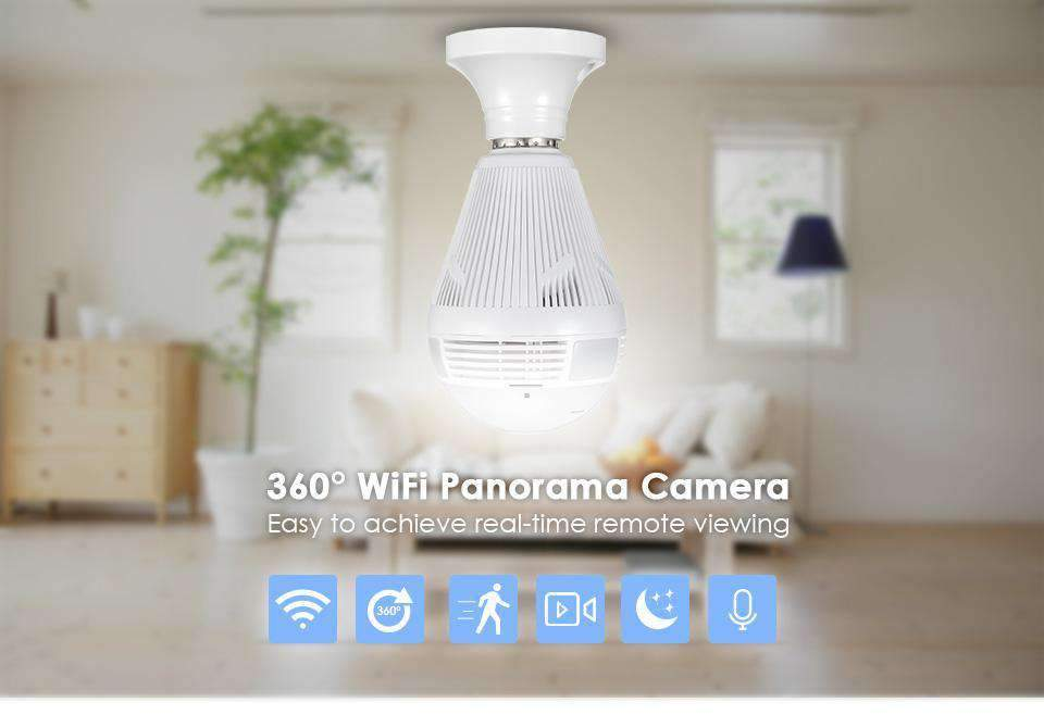 Wifi Surveillance Camera Bulb, Security Camera Bulb With Wifi Access - Dgitrends