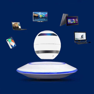 Levitating Speaker & UFO Base, Levitating Speaker With Light Display - Dgitrends Watches Gadgets & Accessories