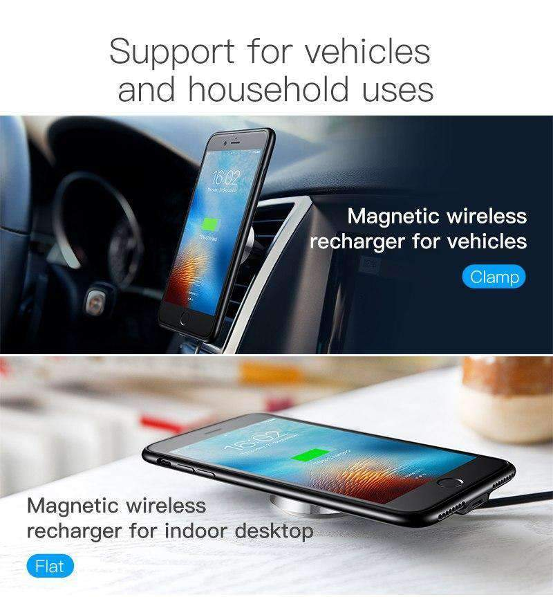 iPhone Magnetic Phone Dock Plus Wireless Charger Bundle, iPhone Case > iPhone Mount > iPhone Magnetic Car Mount > iPhone Case & Mount > iPhone 7 Case > iPhone 8 Mount - Dgitrends