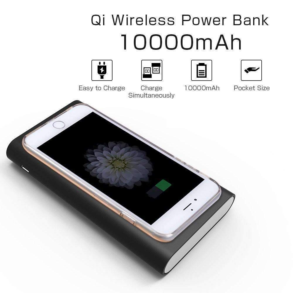 Dual Port Wireless Power Bank, Wireless Power Bank - Dgitrends Watches Gadgets & Accessories