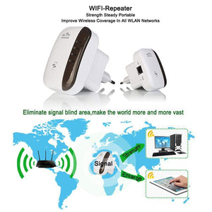 Dgitrends 300Mbps 802.11 Wireless WiFi Repeater Wifi Extender Signal Amplifier Wifi Range Extander Signal Boosters