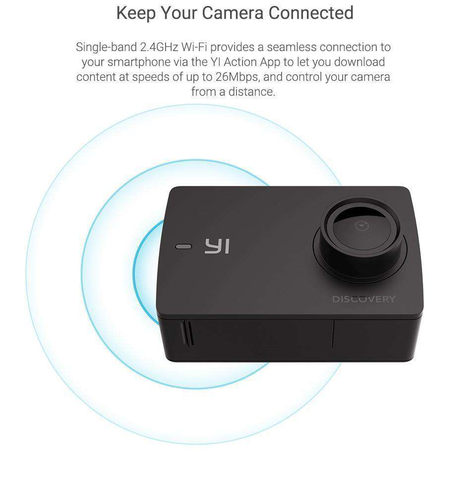 YI Discovery Action Camera 4K 20fps Sports Cam, Action Camera > 4k Camera > Sports Camera > Wide Angle Action Cam - Dgitrends