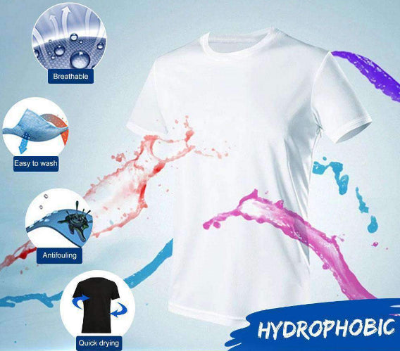 Waterproof T Shirt Stain Repellent Nano Fabric T-Shirt, Waterproof T Shirt Stain Repellent Nano Fabric T-Shirt - Dgitrends