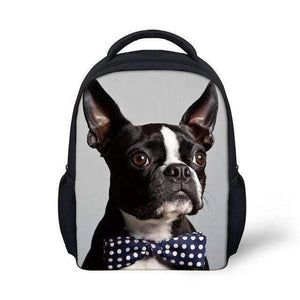 Kids Custom Print Boston Terrier Backpack, Backpack > Boston Terrier Backpack > Kids Backpack > Boston Terrier Print Backpack - Dgitrends