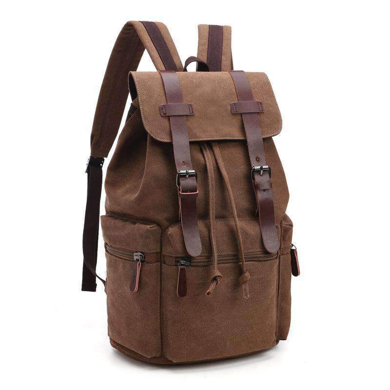 Canvas & Leather Travel Backpack - Dgitrends