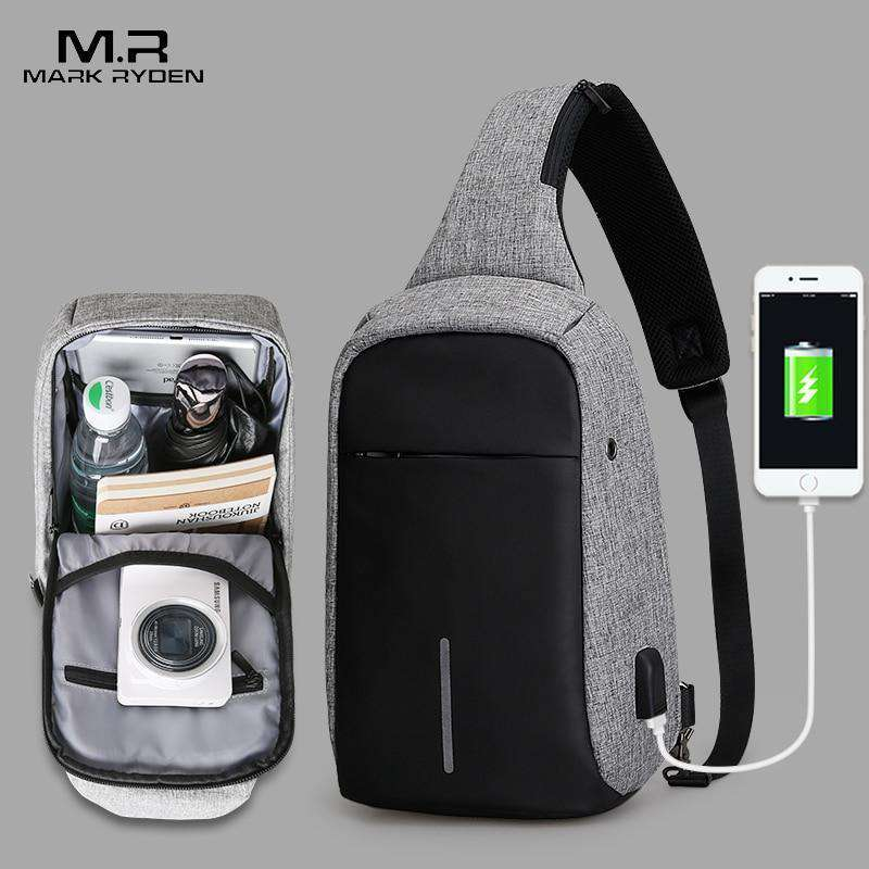 Mark Ryden New Arrival Crossbody Bags Men Anti-theft Chest Pack, Waterproof Backpacks Day Pack > Day Pack > Anti Theft > Theft Proof Backpacks - Dgitrends